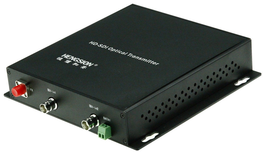 2 - Ch fiber video converter 5VDC , 3G / HD - SDI Optical Transceiver Network management function